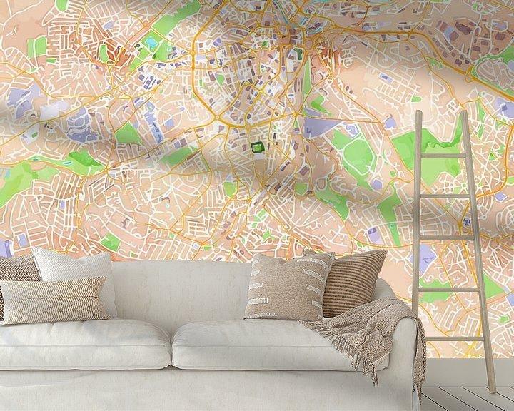 Sfeerimpressie behang: Sheffield van Printed Artings