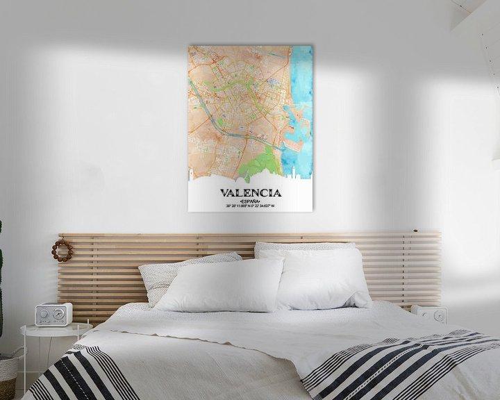 Sfeerimpressie: Valencia van Printed Artings