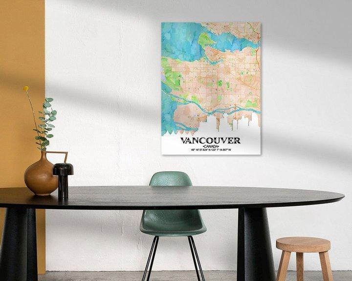 Sfeerimpressie: Vancouver van Printed Artings