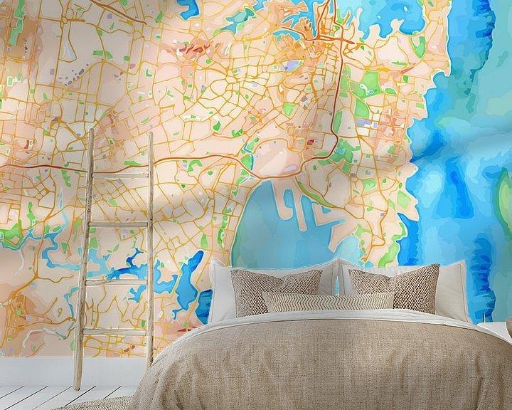 Sfeerimpressie behang: Sydney van Printed Artings