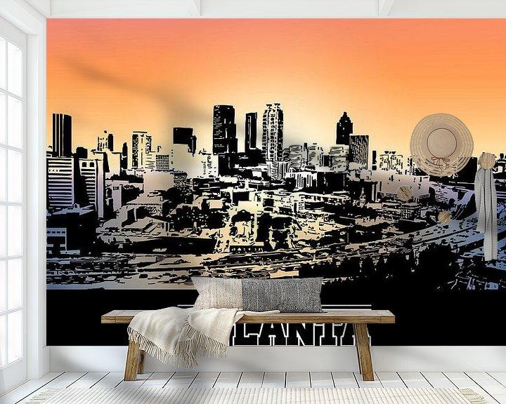 Sfeerimpressie behang: Atlanta van Printed Artings