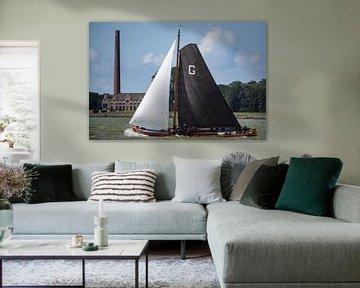 Skûtsje de Grou classique frison à voile Tjalk ship sur Sjoerd van der Wal