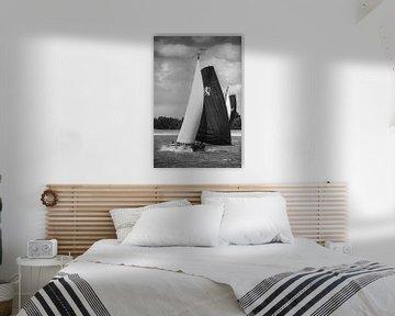 Skûtsje von Leeuwarden klassisches friesisches Segeln Tjalk Schiff von Sjoerd van der Wal