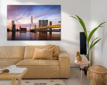 Erasmusbrug Rotterdam Zonsopkomst Goud van Vincent Fennis