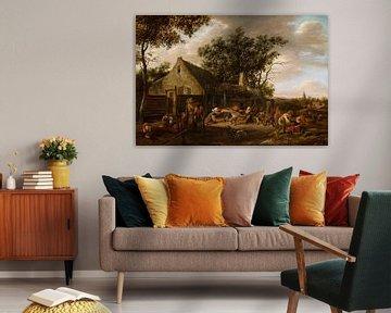 Bauern, die in einem Gasthaus tanzen, Jan Steen