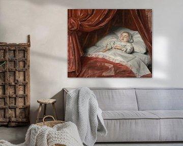 Porträt eines verstorbenen Mädchens, wahrscheinlich Catharina Margaretha van Valkenburg, Johannes Th