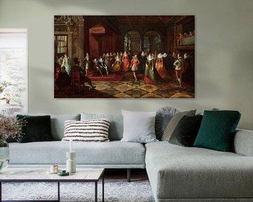 Ballsaalszene an einem Gericht in Brüssel, Frans Francken der Jüngere, Paul Vredeman de Vries