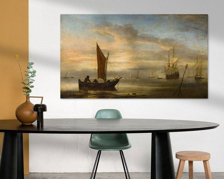 Beispiel: Sonnenuntergang auf See, Willem van de Velde der Jüngere