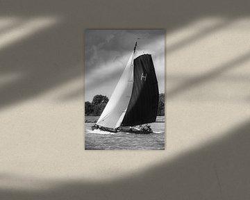 Skûtsje de Heerenveen, le Gerben van Manen, voilier de Tjalk classique frison sur Sjoerd van der Wal