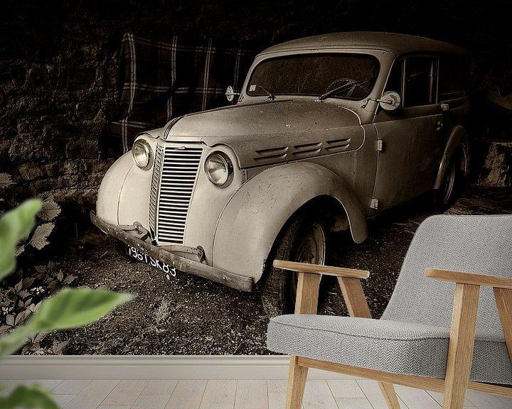 Beispiel fototapete: Alter Renault Dauphinoise von Halma Fotografie
