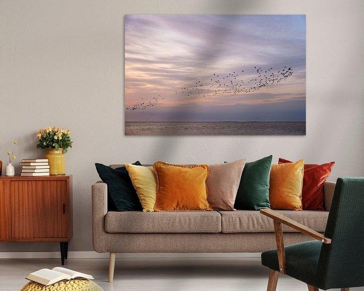 Beispiel: Ein Vogelschwarm an einem schönen Himmel von Barbara Brolsma