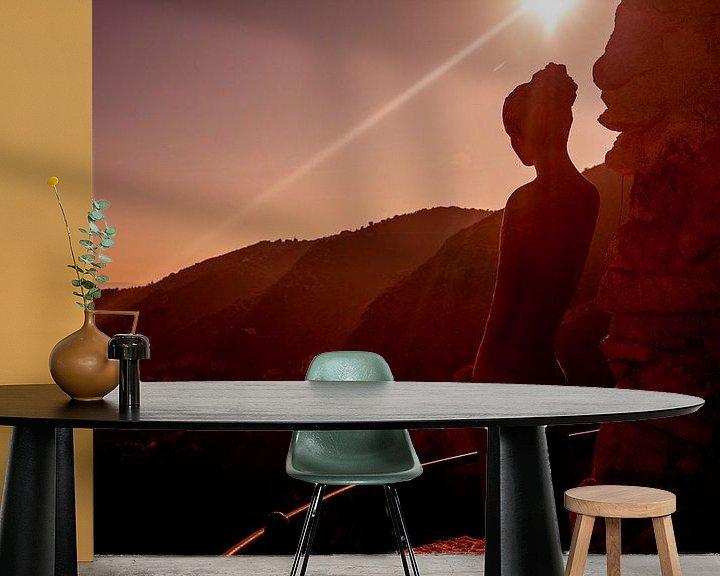 Sfeerimpressie behang: Love Think Act van Christiaan Sauer