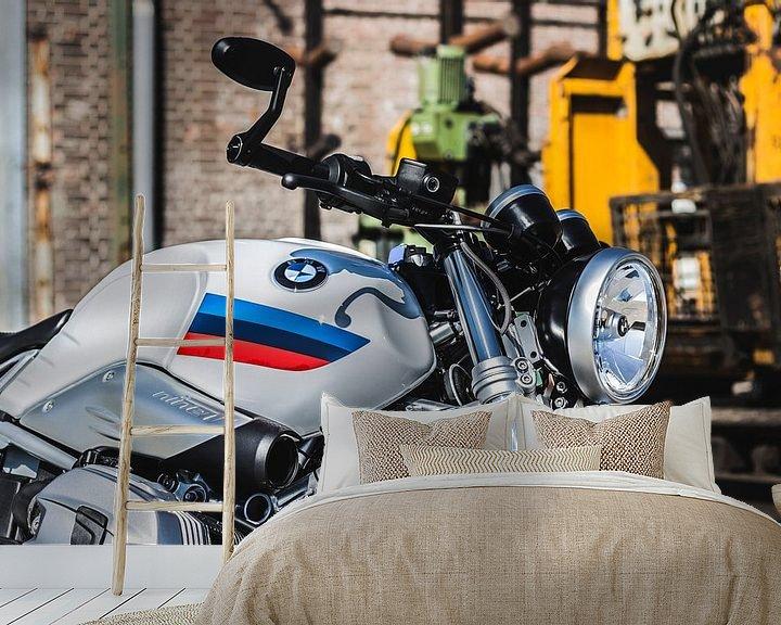 Beispiel fototapete: BMW R Neun T Rennfahrer von Westland Op Wielen