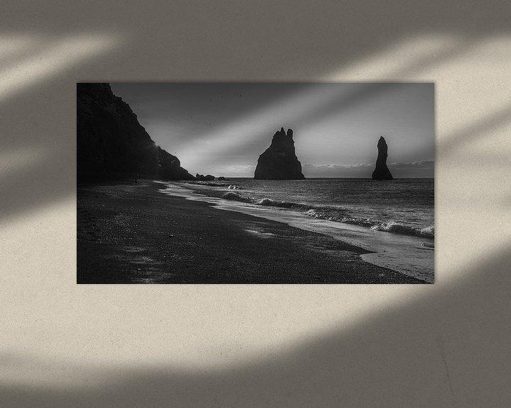 Sfeerimpressie: Reynisdrangar, Vík (Vík í Mýrdal), Reynisfjara Beach, IJsland, van Rien de Jongh