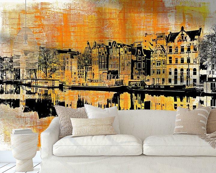Impression: Amsterdam - yellow and black sur PictureWork - Digital artist