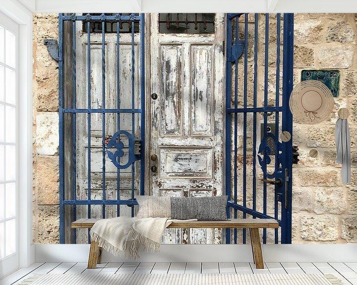 Sfeerimpressie behang: Jaffa Israel van Henriette Tischler van Sleen