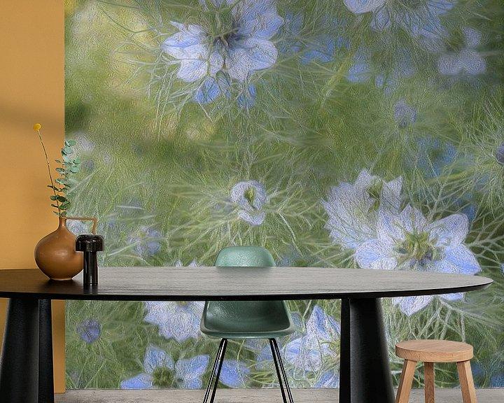 Sfeerimpressie behang: Veldbloemen van Diana Mets