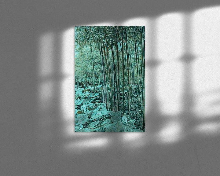 Sfeerimpressie: Bamboe met hosta's van Diana Mets