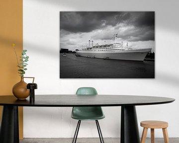 SS Rotterdam in Schwarz-Weiß von Mylène Amoureus