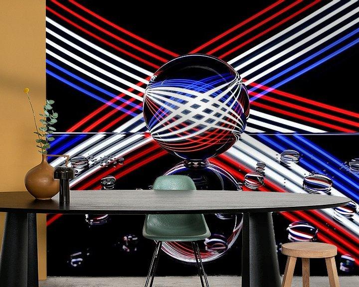 Sfeerimpressie behang: Schilderen met licht 5 van Erik Veltink