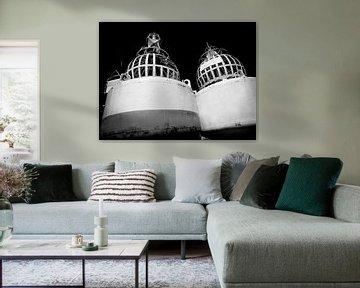 Boje, niederländische Küste (Schwarz-Weiß) von Rob Blok