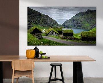 Dorpje Saksun,Faeröer