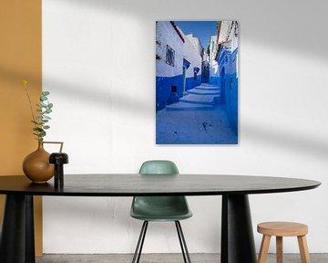 Blauw straatje in Chefchaouen