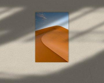 Hoge duin in Erg Chebbi, Sahara