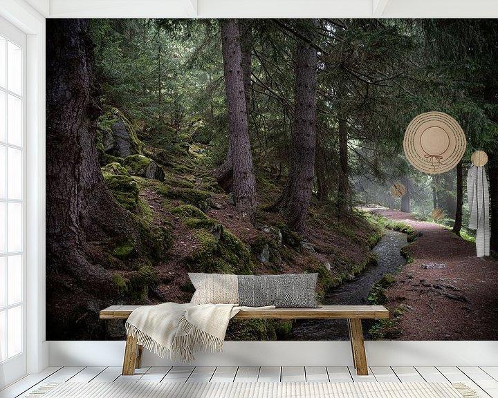 Sfeerimpressie behang: Bisse Vieux, Zwitserland van Ingrid Aanen