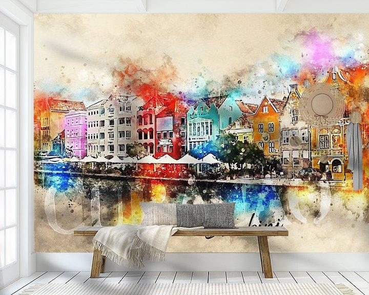 Sfeerimpressie behang: Bon bini Curacao! van Sharon Harthoorn