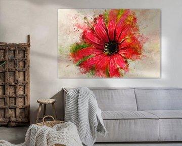 Rote Blume von Sharon Harthoorn