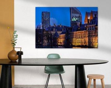 Blauwe uur bij de Hofvijver van Scarlett van Kakerken