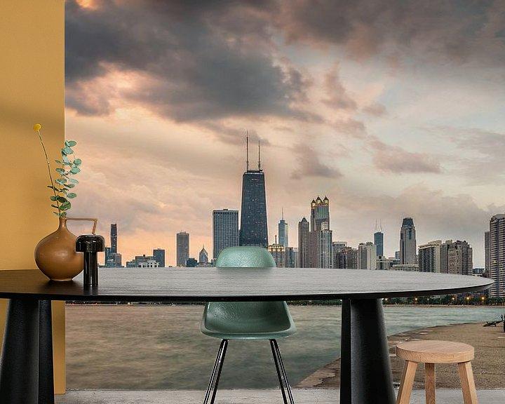 Sfeerimpressie behang: Chicago Illinois van Bart Hendrix