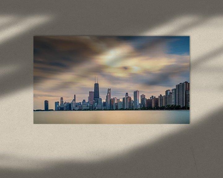 Sfeerimpressie: Chicago Skyline van Bart Hendrix