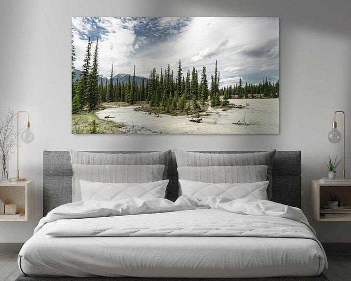 Sfeerimpressie: Athabasca River van Floris van Woudenberg