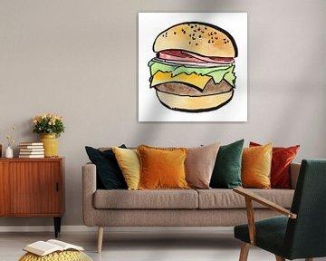 Hamburger Sandwich von Natalie Bruns