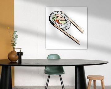 Uramaki sushi met zalm van Natalie Bruns