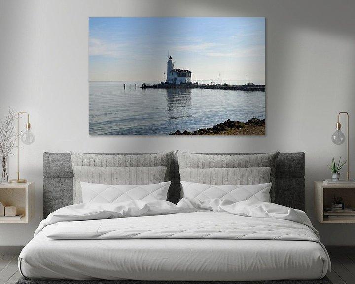 Beispiel: Leuchtturm auf der Insel Marken am IJsselmeer, Niederlande von Robin Verhoef