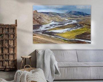 Road to Landmannalaugar - Iceland van Arnold van Wijk