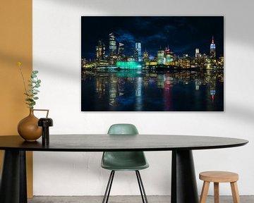 Skyline Manhattan vanaf Hoboken