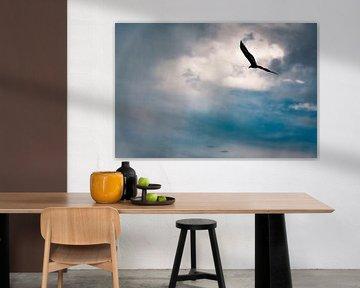 Tropische vogel in de storm van John Ozguc