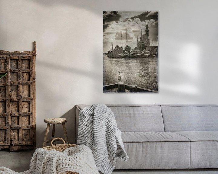 Sfeerimpressie: Havenhoofd van Hoorn van Jan van der Knaap