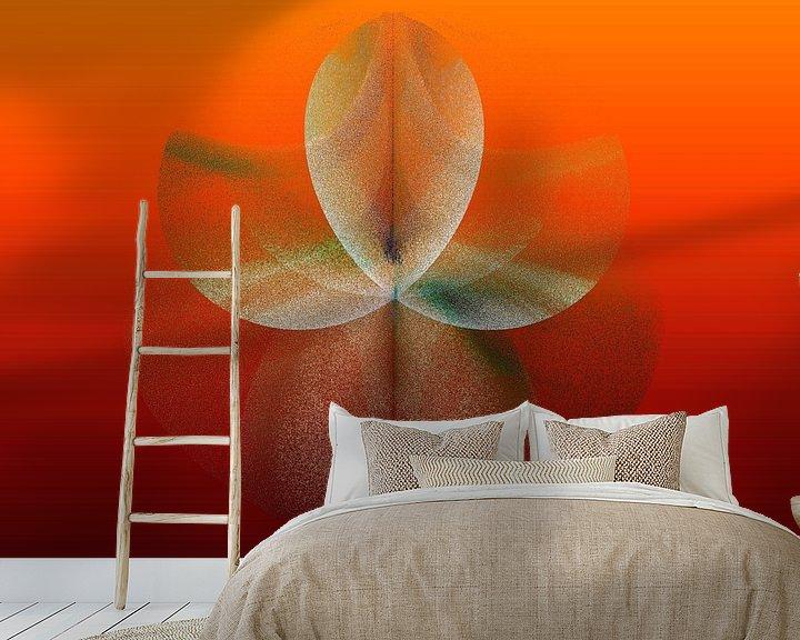 Sfeerimpressie behang: kleurenspel van Manfred Kunz