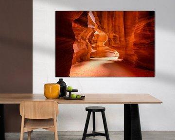 Antelopen canyon, Page, Arizona in America van Michael Bollen