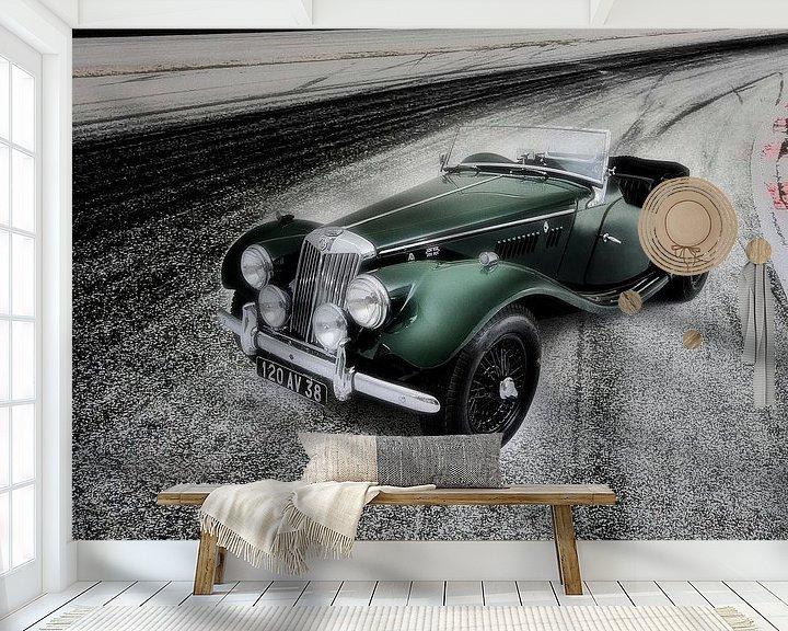 Sfeerimpressie behang: Sportauto MG TF Sportscar van Willem van Holten