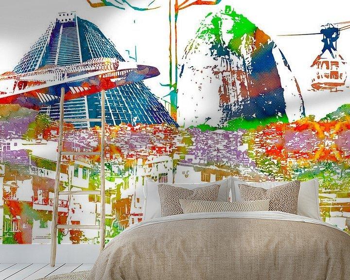Sfeerimpressie behang: Rio de Janeiro van Printed Artings
