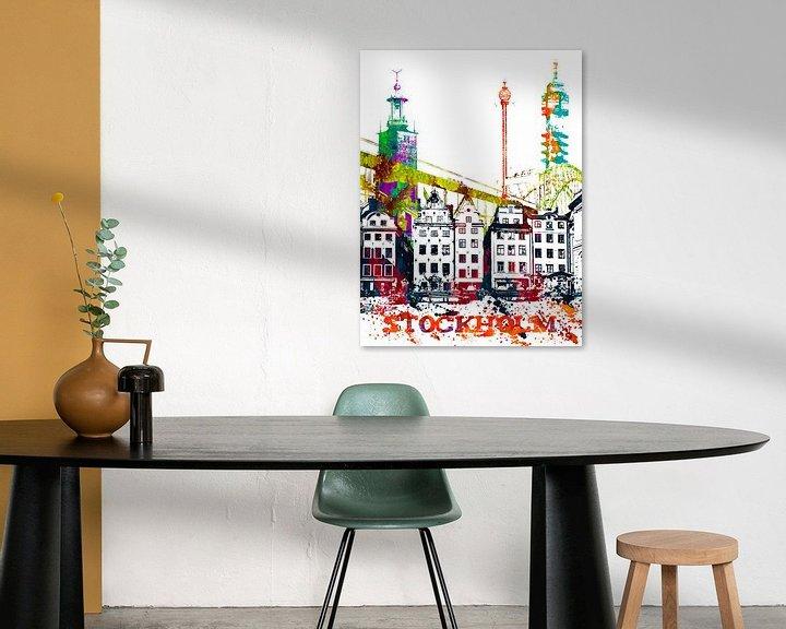 Sfeerimpressie: Stockholm van Printed Artings
