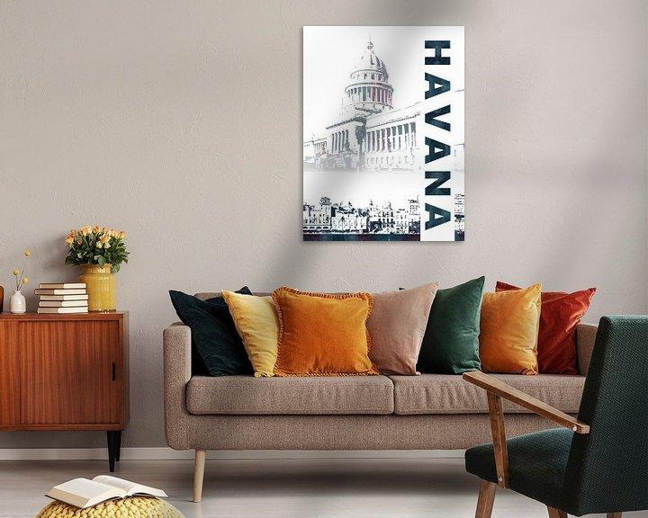 Sfeerimpressie: Havana van Printed Artings