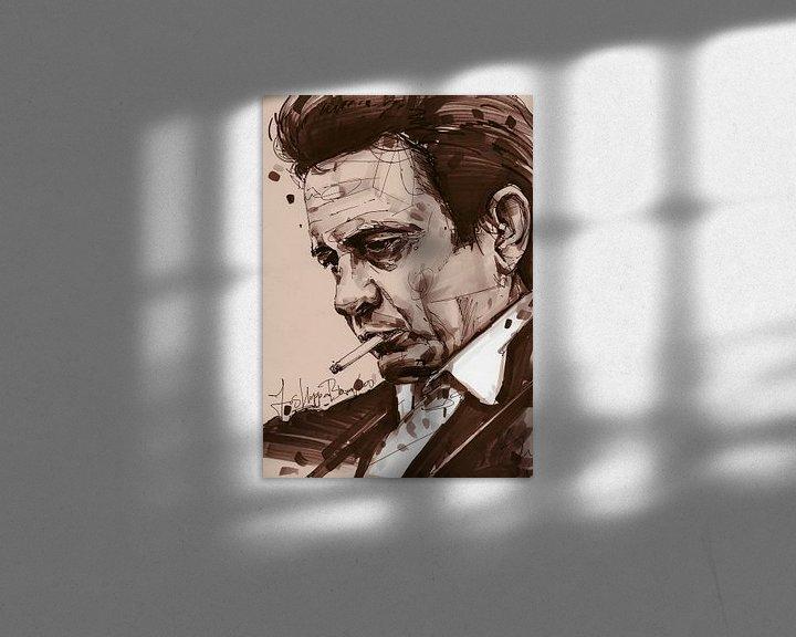Beispiel: Johnny Cash kunst von Jos Hoppenbrouwers