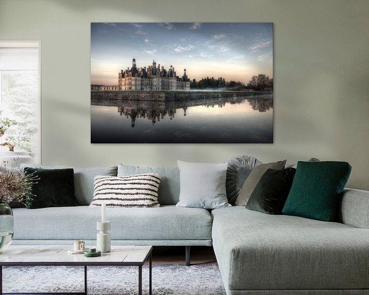 Sfeerimpressie: Kasteel Chambord bij morgenlicht van Hans Kool